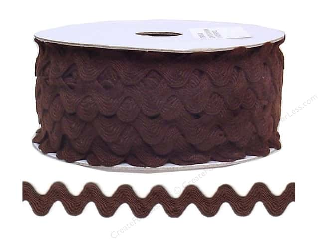 Cheep Trims Ric Rac 11/16 in. Brown