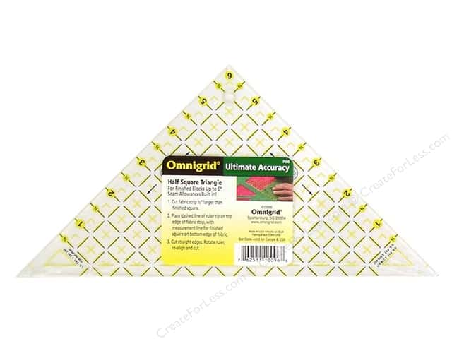 "Omnigrid Rulers Triangle Half Square Up to 6"" Block"