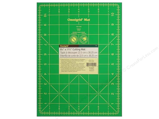 Omnigrid Cutting Mat 8 3/4 x 11 3/4 in. with 1 in. Grid