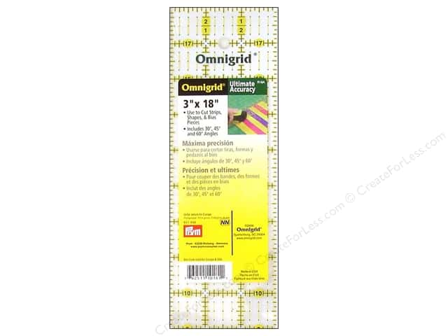 Omnigrid Ruler with Angles 3 x 18 in.