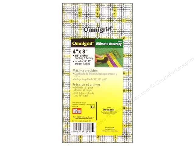 "Omnigrid Rulers 4x8"" with Grid"