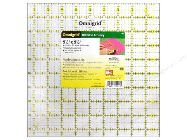 Omnigrid Ruler 9 1/2 x 9 1/2 in.
