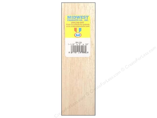 Midwest Balsa Wood Block 1 1/2 x 2 x 12 in.