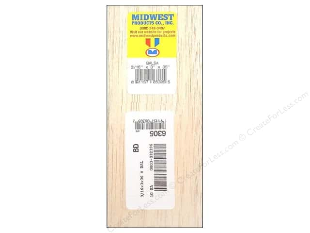 Midwest Balsa Wood Strips 3/16 x 3 x 36 in.