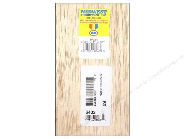 Midwest Balsa Wood Strips 3/32 x 4 x 36 in. (15 pieces)