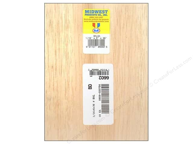 Midwest Balsa Wood Strips 1/16 x 6 x 36 in. (10 pieces)