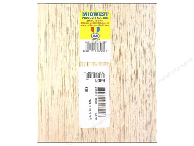 Midwest Balsa Wood Strips 1/8 x 6 x 36 in. (10 pieces)