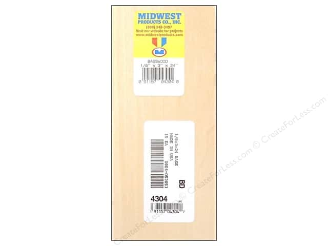 Midwest Basswood Sheet 1/8 x 3 x 24 in. (15 pieces)