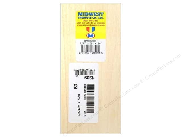Midwest Basswood Sheet 3/8 x 3 x 24 in. (5 pieces)