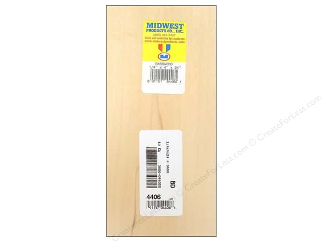 Midwest Basswood Sheet 1/4 x 4 x 24 in.