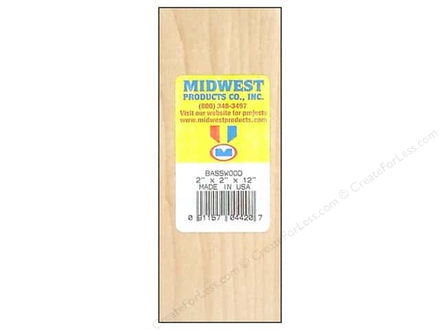Midwest Basswood Block 2 x 2 x 12 in.