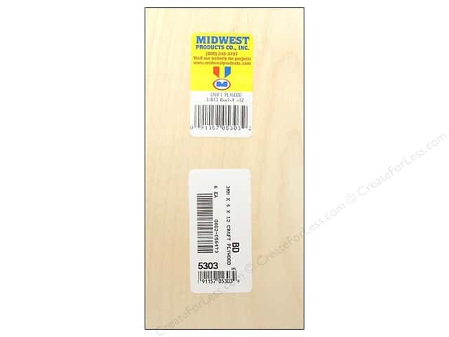 "Midwest Craft Plywood 1/8""x 4""x 12"" (6 pieces)"