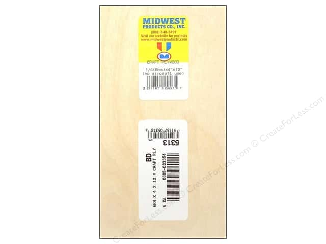 "Midwest Craft Plywood 1/4""x 4""x 12"" (6 pieces)"