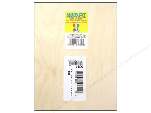 "Midwest Craft Plywood 1/4""x 6""x 12"""