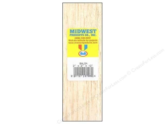 Midwest Balsa Wood Block 2 x 2 x 12 in.