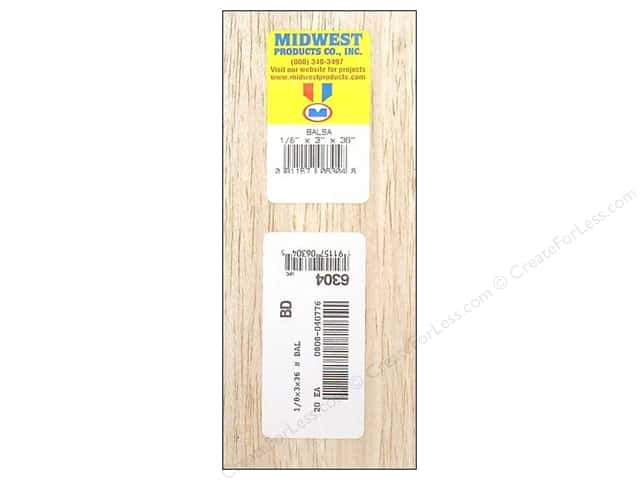 Midwest Balsa Wood Strips 1/8 x 3 x 36 in. (20 pieces)