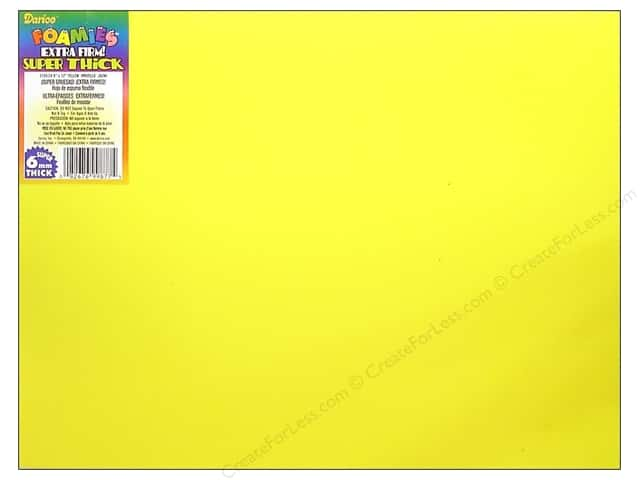 Darice Foamies Foam Sheet  9 x 12 in. 6 mm. Yellow