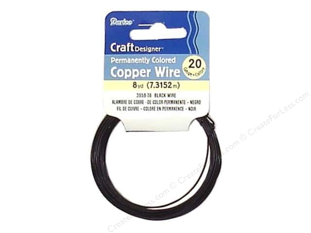 Darice Copper Craft Wire 20 ga. 8 yd. Black