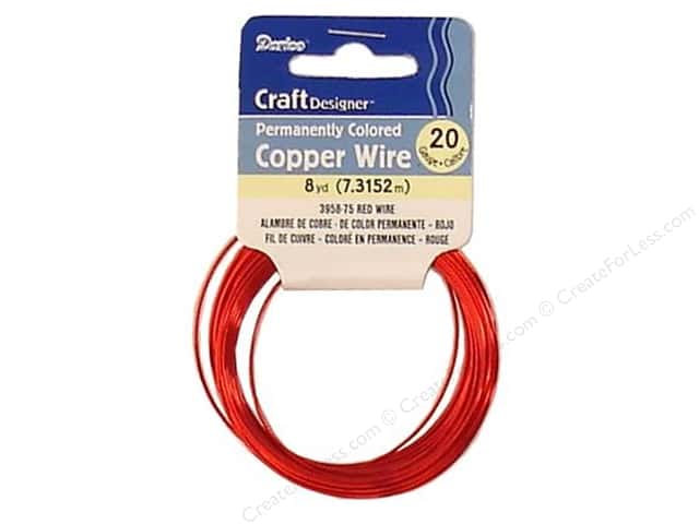 Darice Copper Craft Wire 20 ga. 8 yd. Red