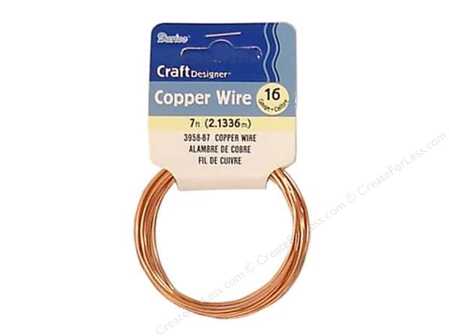 Darice Copper Craft Wire 16 ga. 7 ft. Copper