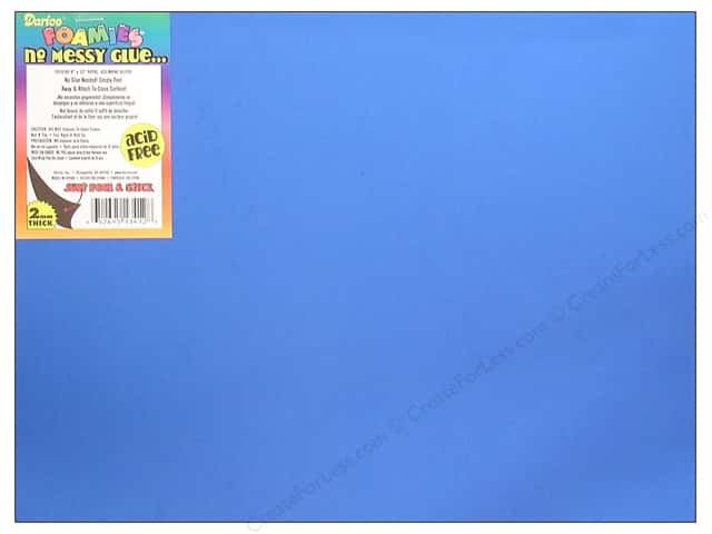 Foamies Sticky Back Sheets 9 x 12 in. 2 mm. Royal Blue (10 sheets)
