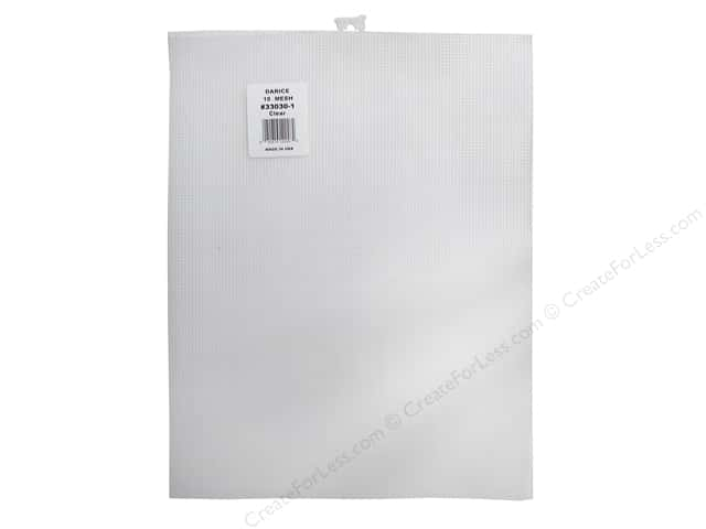 Darice Plastic Canvas #10 Mesh 10 1/2 x 13 1/2 in. Clear Rectangle