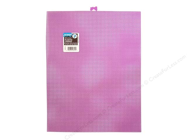 Darice Plastic Canvas #7 Mesh 10 1/2 x 13 1/2 in. Purple Rectangle (12 sheets)