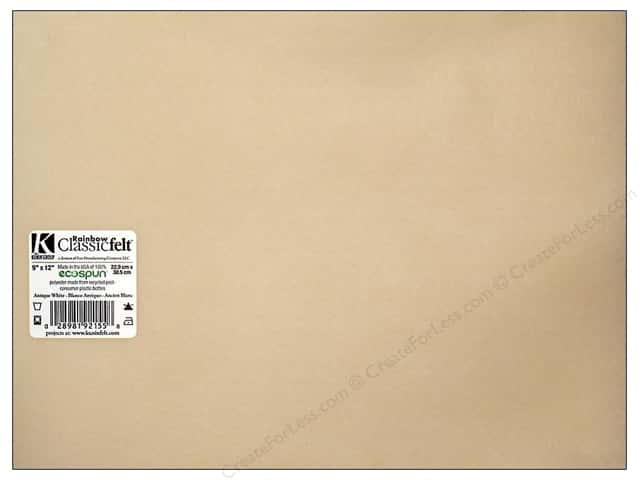 Kunin Felt 9 x 12 in. Antique White (24 sheets)