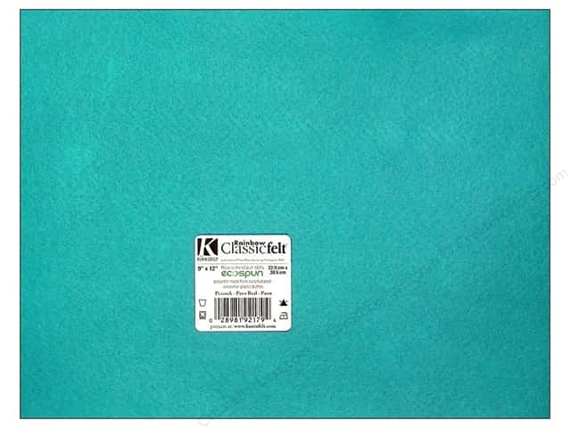 Kunin Felt 9 x 12 in. Peacock (24 sheets)