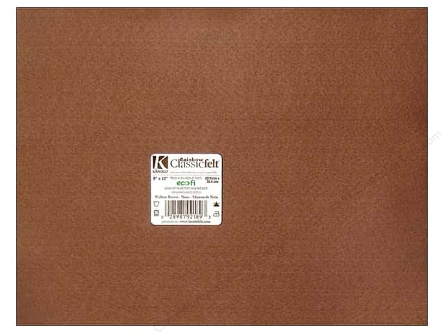 Kunin Felt 9 x 12 in. Walnut Brown (24 sheets)