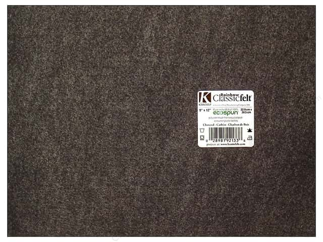 Kunin Felt 9 x 12 in. Charcoal Grey (24 sheets)