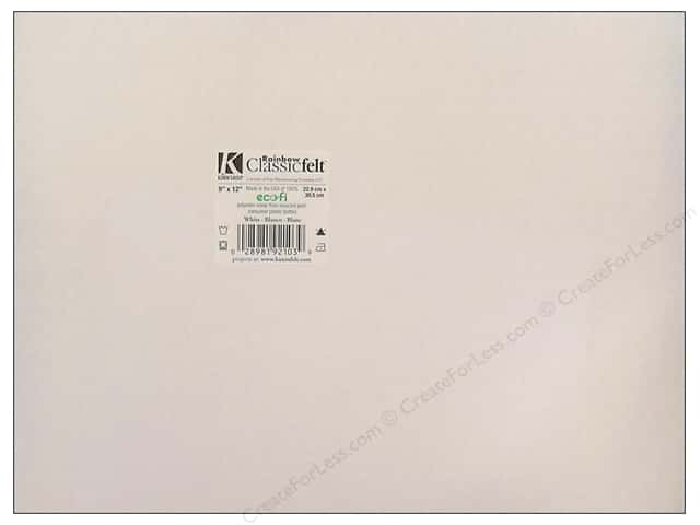 Kunin Felt 9 x 12 in. White (24 sheets)