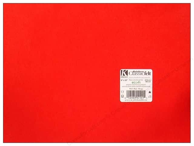 Kunin Felt 9 x 12 in. Red (24 sheets)
