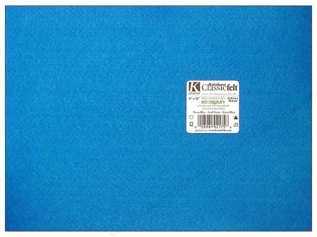 Kunin Felt 9 x 12 in. Neon Blue (24 sheets)