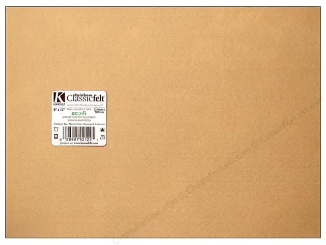 Kunin Felt 9 x 12 in. Cashmere Tan (24 sheets)
