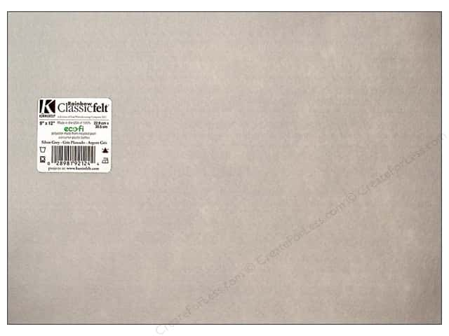 Kunin Felt 9 x 12 in. Silver Grey (24 sheets)