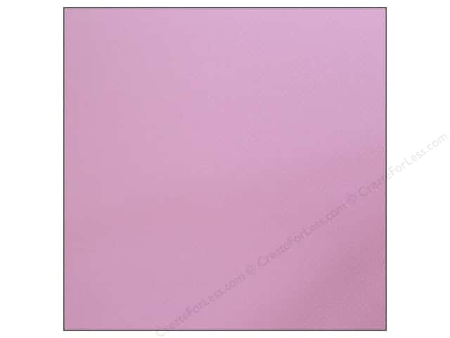 Bazzill 12 x 12 in. Cardstock Dotted Swiss Berry Pretty (25 sheets)