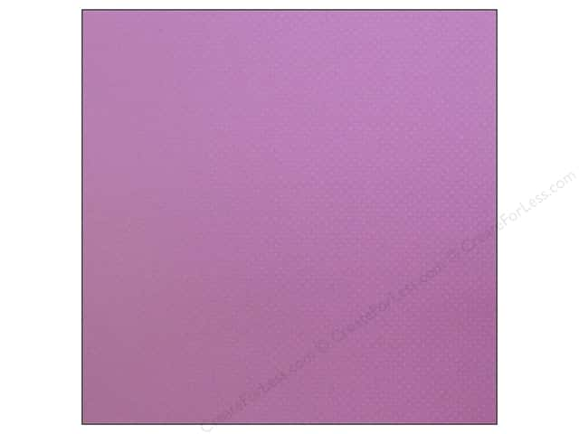 Bazzill 12 x 12 in. Cardstock Dotted Swiss Grape Jelly (25 sheets)