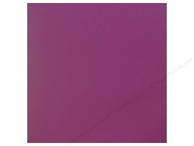 Bazzill 12 x 12 in. Cardstock Dotted Swiss Plum Pudding (25 sheets)