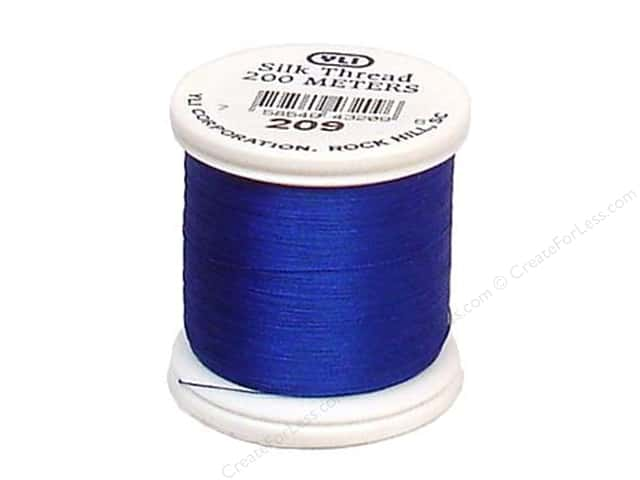 YLI Silk Thread 100 wt. 220 yd. #208 Royal Blue