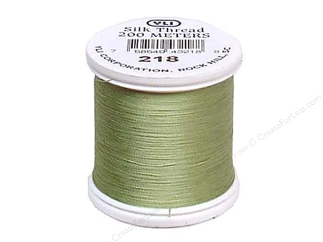 YLI Silk Thread 100 wt. 220 yd. #218 Powder Green