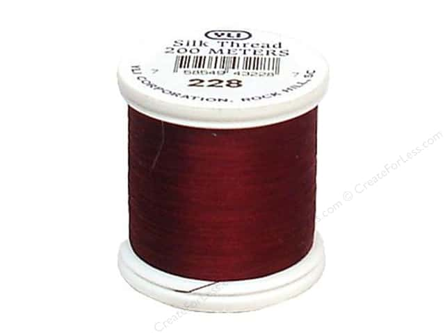 YLI Silk Thread 100 wt. 220 yd. #228 Maroon
