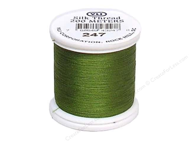 YLI Silk Thread 100 wt. 220 yd. #247 Leaf Green