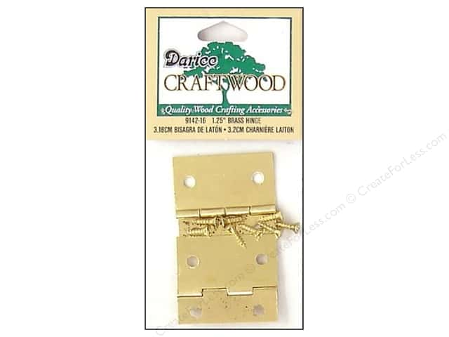 Darice Hinges 1 1/4 in. Brass 2 pc. (3 packages)