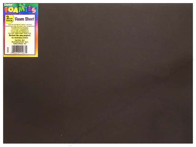 Foamies Foam Sheet 9 x 12 in. 2 mm. Black (10 sheets)