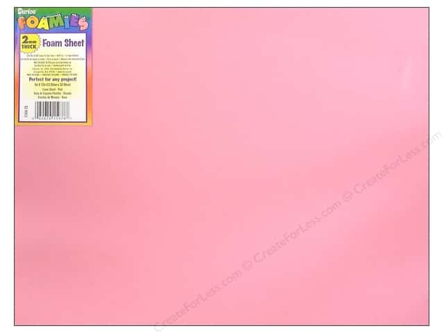 Foamies Foam Sheet 9 x 12 in. 2 mm. Pink (10 sheets)