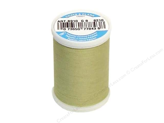 Coats & Clark Dual Duty XP All Purpose Thread 250 yd. #6210 Light Okra