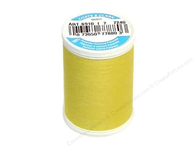 Coats & Clark Dual Duty XP All Purpose Thread 250 yd. #7240 Banana Peel