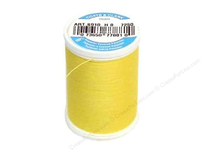 Coats & Clark Dual Duty XP All Purpose Thread 250 yd. #7250 Sun Yellow