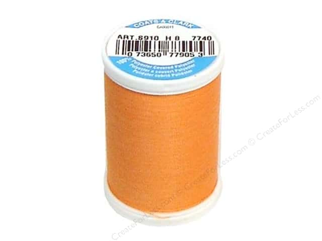 Coats & Clark Dual Duty XP All Purpose Thread 250 yd. #7740 Light Orange